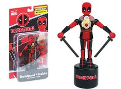 SDCC Exclusive Deadpool and Cable Wooden Push Puppet Only 1500 Made!