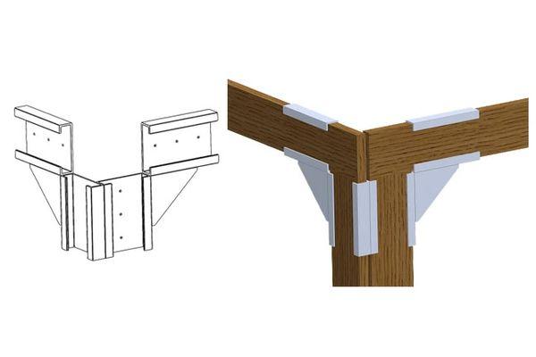 Upper Corner Post Bracket | QuickFRAME Brackets