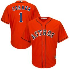 Houston Astros Carlos Correa Majestic Cool Base Player Jersey - Orange