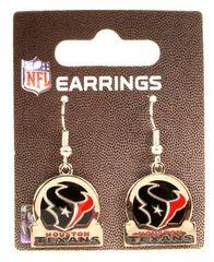 Houston Texans NFL Earrings Circle Bar Style