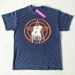 White Cup Ent. Dripping H Star Navy Blue / Orange Houston Fan Shirt T-Shirt