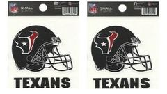 Houston Texans Rico Small Static Helmet Decal - 2 Pack