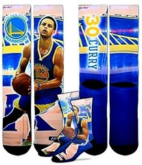 Golden State Warriors 308S Center Court Stephen Curry For Bare Feet Player Crew Socks