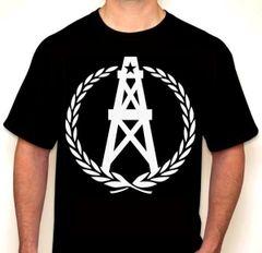 Oilers Wreath Houston Fan T-Shirt White / Black