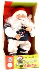 Houston Texans Rockin Singing Santa Claus
