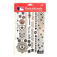 Houston Astros Tattoos 2 Pack Body Jewelry