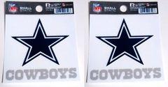 Dallas Cowboys Rico Small Static Decal 2 Pack