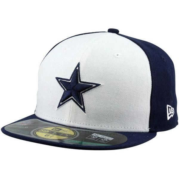 Dallas Cowboys New Era Navy Blue White Sideline 59Fifty Fitted Ha ... 50c4f23e1