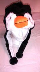 Winter Plush Animal Penguin Hat With Lights & Animal Sounds