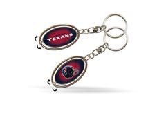 Houston Texans Rico Silver Spinner Keychain