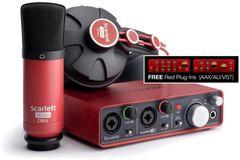 Focusrite Scarlett Studio Recording Refurbished Bundle with Scarlett 2i2, Headphones, Condenser Mic