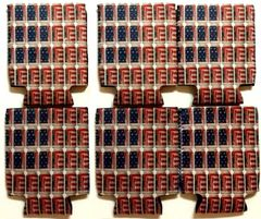 BUDWEISER AMERICAN FLAG 4 PACK Can Koozie Coozie Coolie Hugie
