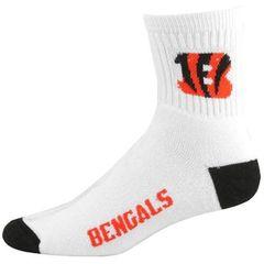 Cincinnati Bengals White Team Logo Woven Sock