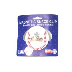 Houston Astros Baseball Style Chip/Fridge Magnetic Clip