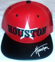 a8a491ef2f0 Houston Star Red   Black   White PU Leather Snapback Cap