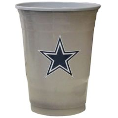 Dallas Cowboys Siskiyou Plastic Game Day Cups - 18 Count