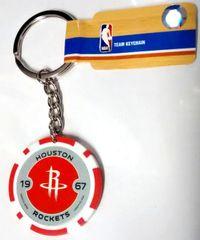 Houston Rockets NBA Team Chip Keychain