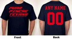 PuroPincheTexans.com Any Name & Number Logo Personalized Football Fan T-Shirt Red / Navy