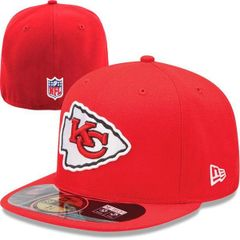 huge discount a8f52 f2a70 Kansas City Chiefs New Era Red On-Field Player Sideline 59FIFTY Fitted Mens  Hat