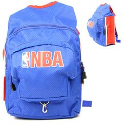 NBA Official Mesh Style Backpacks Blue / Red