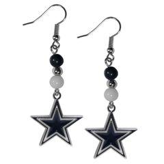 Dallas Cowboys Siskiyou Bead Dangle Earrings