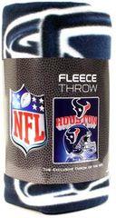 """Houston Texans Mirror Style 50""""x60"""" Fleece Throw Blanket"""
