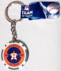 Houston Astros MLB Team Chip Keychain