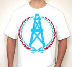 Oilers Wreath Houston Fan T-Shirt Columbian Blue/Red/White