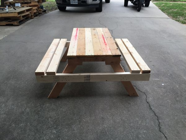 Handcrafted Kids Pallet Wood Picnic Table