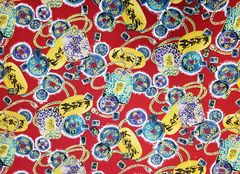 M'doridori Fabric Gift Wrap in Red Yen