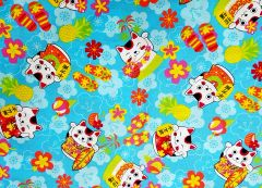 M'doridori Fabric Gift Wrap in Lots of Lucky Cats