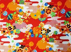 M'doridori Fabric Gift Wrap in Red Asian