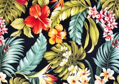M'doridori Fabric Gift Wrap in Black Tropical