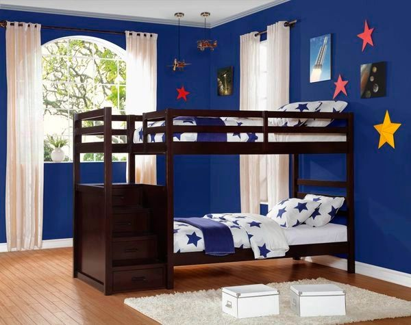 Twin Over Twin Dark Cherry Bunk Beds With Drawer Stairs Kswxeb2250
