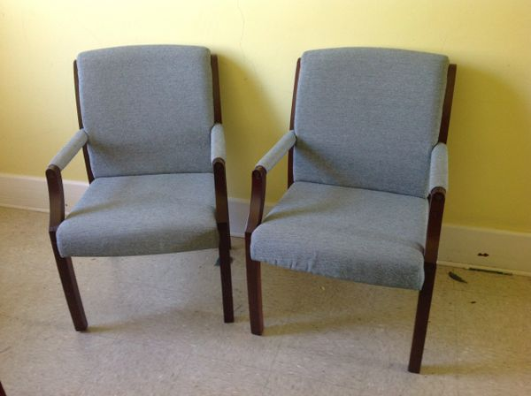 Office Reception Chairs (1 pair)
