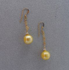 Yellow Freshwater Pearls with 14 kt GF Earrings