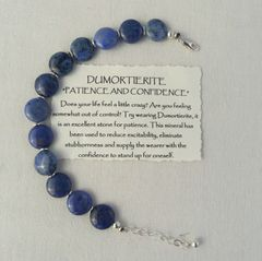 Dumortierite and Sterling Silver Bracelet