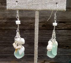 Mini Floater and Sterling Silver Earrings