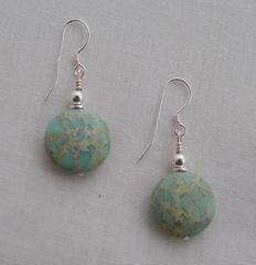 Aqua Terra Round Jasper Earrings