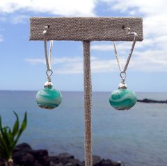 Handcrafted Glass Beads and Sterling Silver Earrings