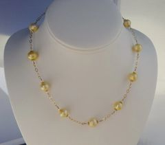 Yellow Pearls with 14kt GF Necklace