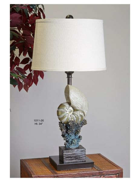 Conch coral table lamp affordable lamps online florida buy conch coral table lamp aloadofball Images