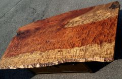 BUBINGA ART COFFEE TABLE ~