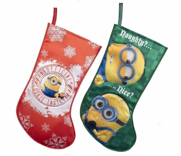 despicable me minions pre filled christmas stocking - Pre Filled Christmas Stockings