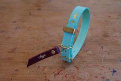 Mint luxury leather dog collar
