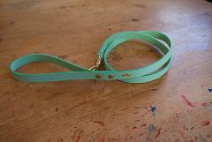 Mint mini luxury leather dog lead