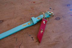 Mint mini luxury leather dog collar