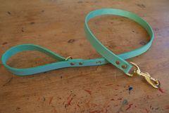 Mint luxury leather dog lead
