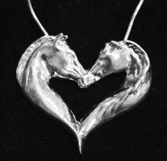 Horse Heart Pendant 2