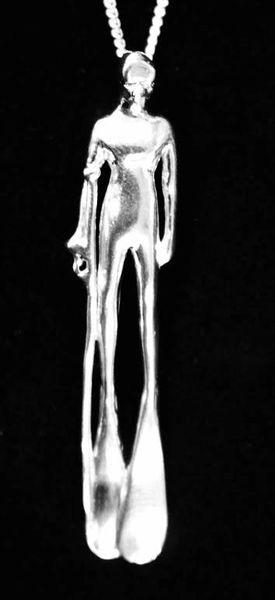 Sterling Silver Diver Pendant